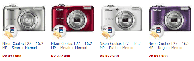 Harga Kamera Nikon Coolpix L27