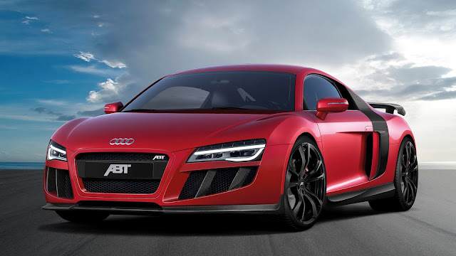 2013 Abt Audi R8 V10 Red Supercar HD Wallpaper