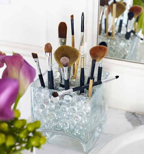 Practical, yet stylish makeup brush holder