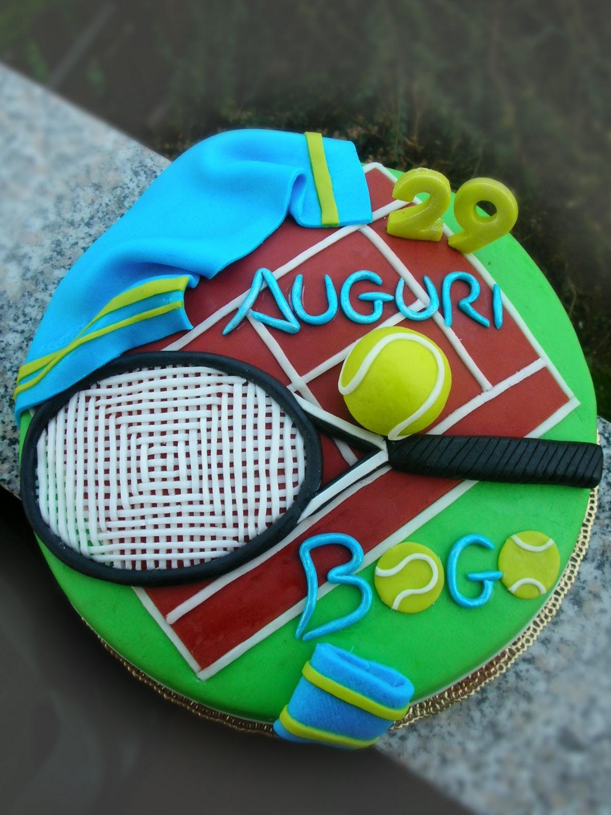 Questa torta l ho fatta per il compleanno di un giovane tennista tanti