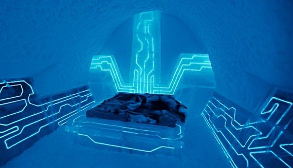 IceHotel made of Ice and Snow