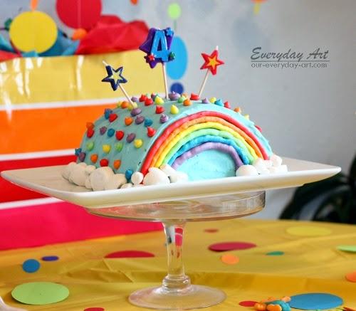 Everyday Art Rainbow Birthday Cake