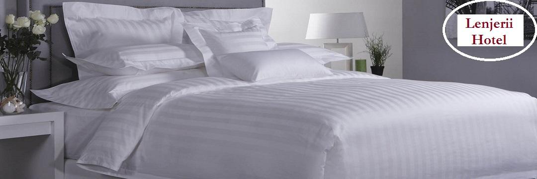Lenjerii de pat hotel, lenjerii hoteluri din damasc in dungi si bumbac natural, producator lenjerii