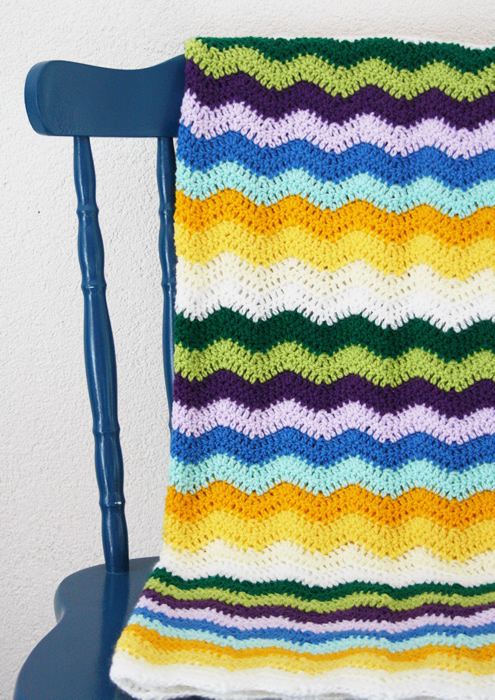 Crochet baby blanket: ripple stitch