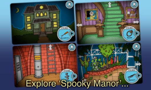 Spooky Manor games