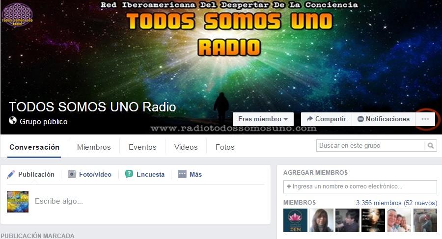 SUMATE AL GRUPO DE LA RADIO EN FACEBOOK