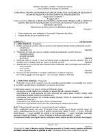 Subiecte Limba Romana (Educatori) - suplinire august 2011