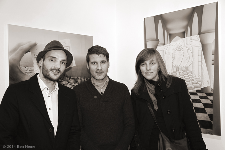 Visitors and friends during the opening - Ben Heine exhibition - Bart Verhelle