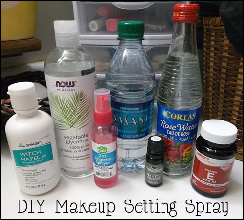 Spray makeup setting Setting  : all natural spray Makeup it  you right Toner Recipe DIY done If want