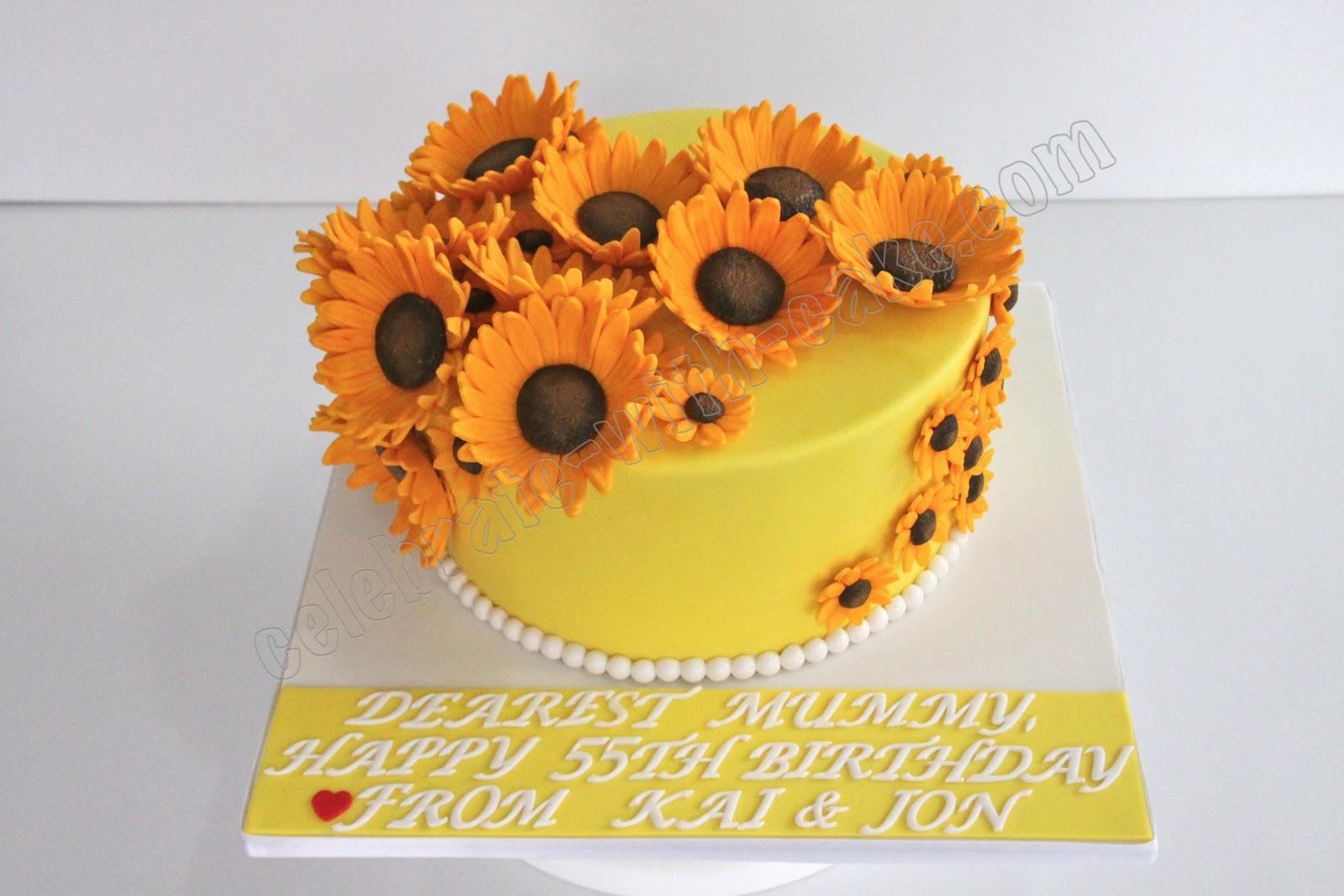 Celebrate with Cake Sunflower Themed Cake