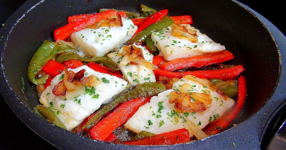 Cocinar para los amigos bacalao con piperrada - Cocinar para los amigos ...