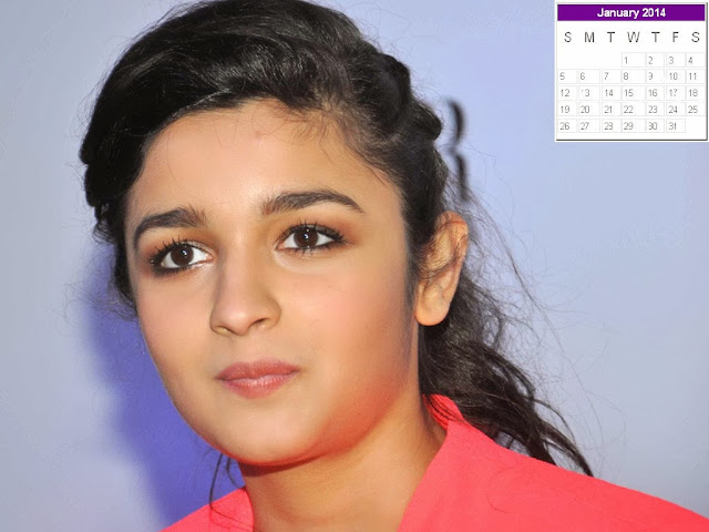 Alia Bhatt Calendar 2014