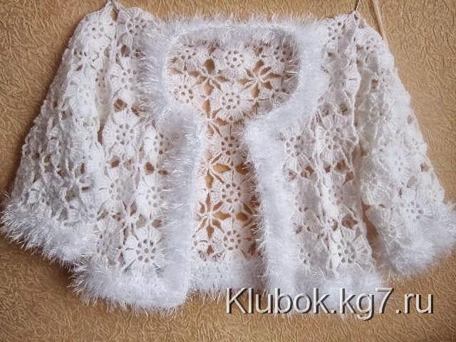 Chaqueta tejida al crochet