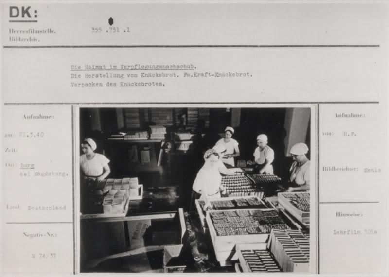 Pembuatan Knäckebrot di pabrik Krafts