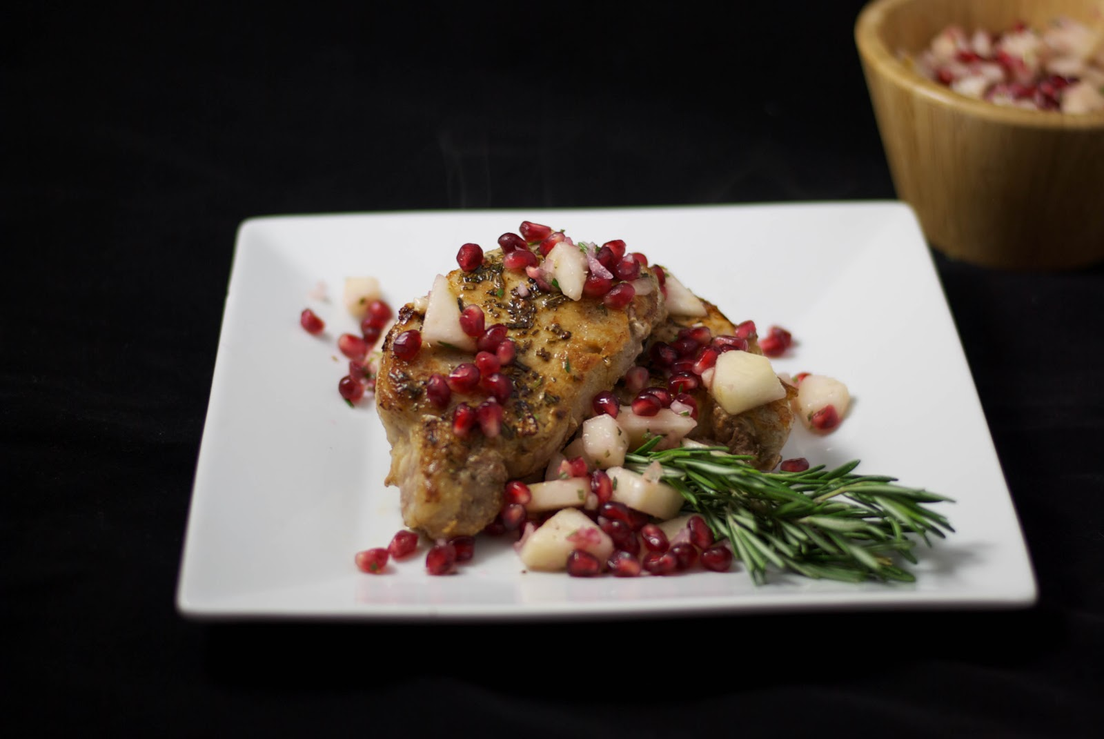 ... Experimental Kitchen: Pan Seared Pork with Pear & Pomegranate Salsa