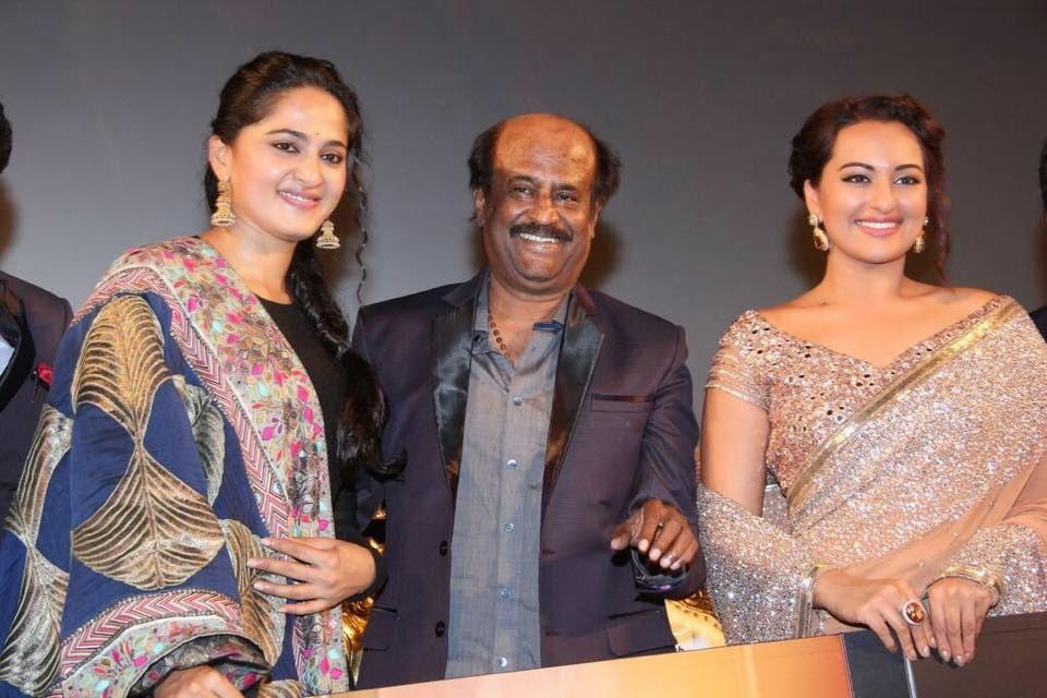 Sonakshi Sinha, Rajinikanth, Anushka at  Grand audio and trailer launch of Lingaa