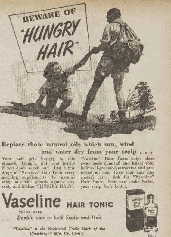 Vaseline hair tonic, 1950