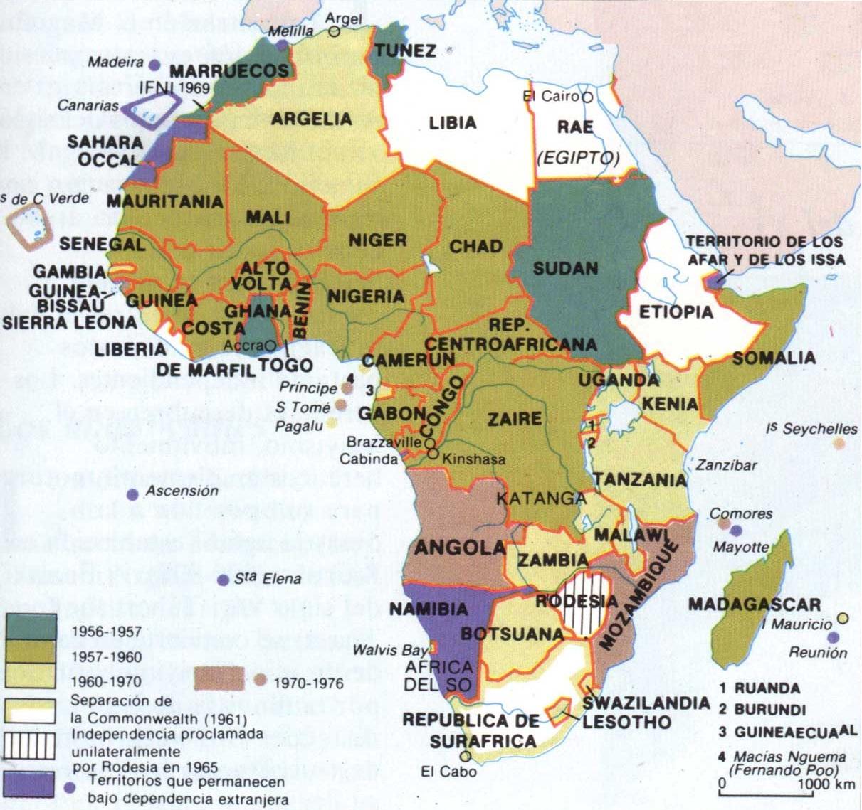 Mapa Politico De Africa Con Sus Paises