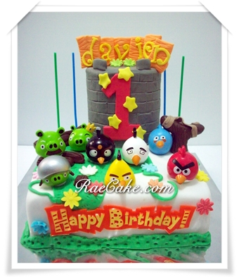 Cake Angry Bird Kue Ulang Tahun Birthday Cupcake Foto Artis