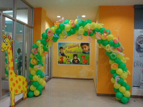 Birthday party decorations in hyderabad january 2015 for Balloon decoration birthday party hyderabad