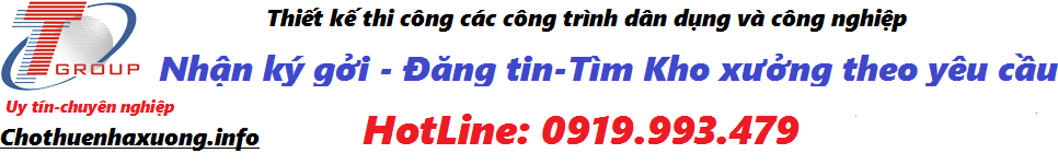 CHO THUÊ NHÀ XƯỞNG