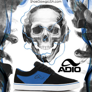 Adio Shoes: The Adio Captain Shoe Canvas Black Royal