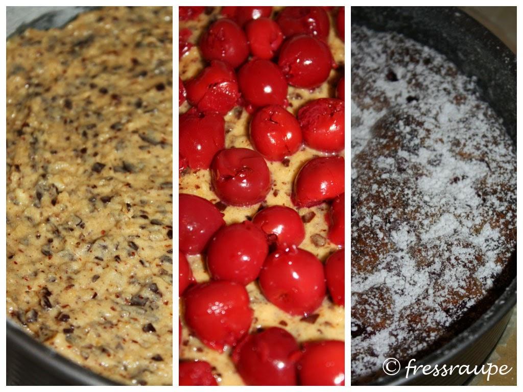 Fressraupe Kirsch Nuss Kuchen Mit Schokoraspeln