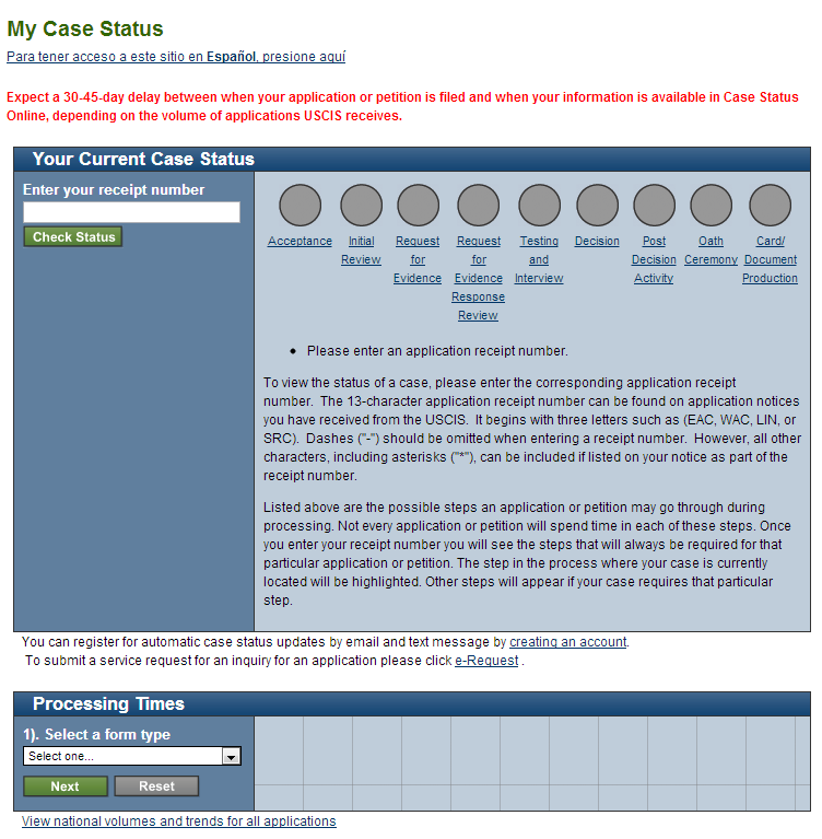 How to check your USCIS Case Status - U.S. Immigration