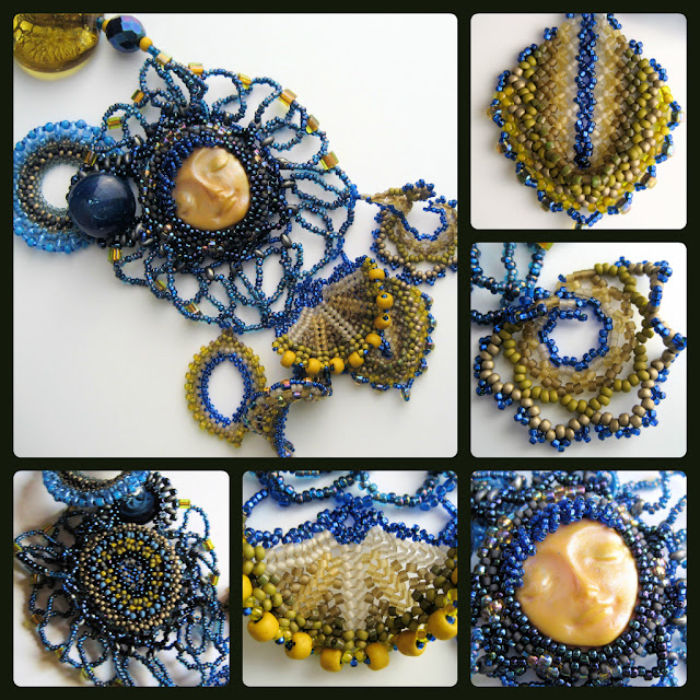 Bead weaving necklace by Lindsay Starr of Phantasm Creations