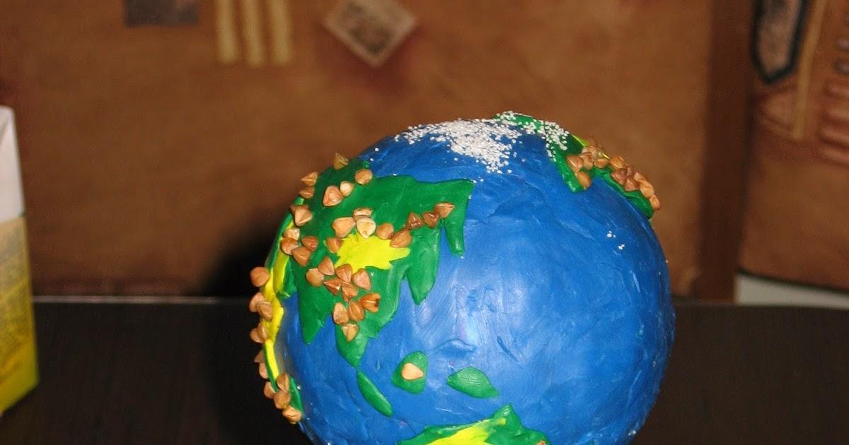 Поделка глобус из ниток 7