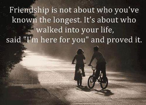 Quotes about friend not being there for you : I am here for you friendship quote inspirational picture