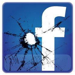 logo de Facebook con un balazo