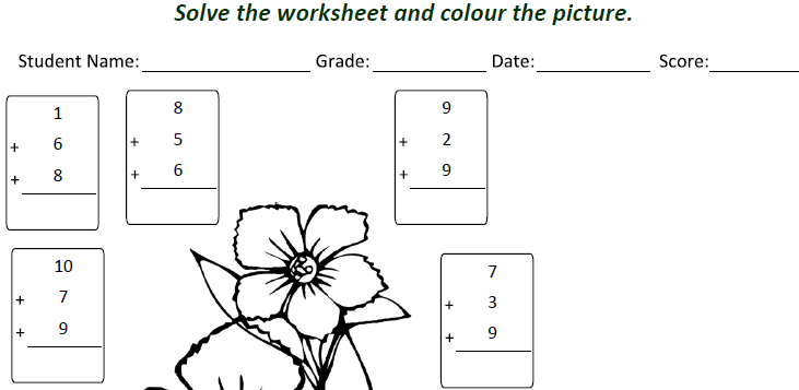 math worksheet : class 1 maths addition worksheet for students tutorial  learners  : Worksheets Of Maths For Class 1
