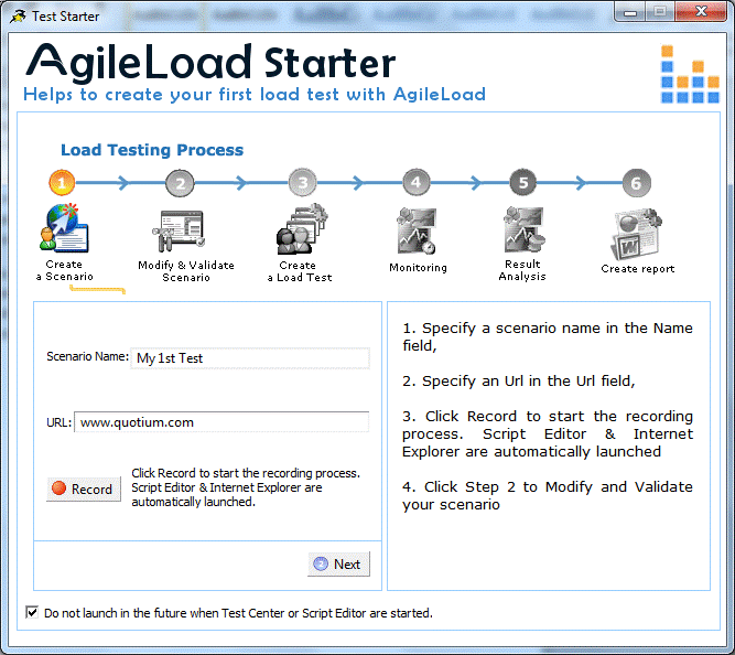 AgileLoad; An Enterprise Class Load, Stress and Performance ...