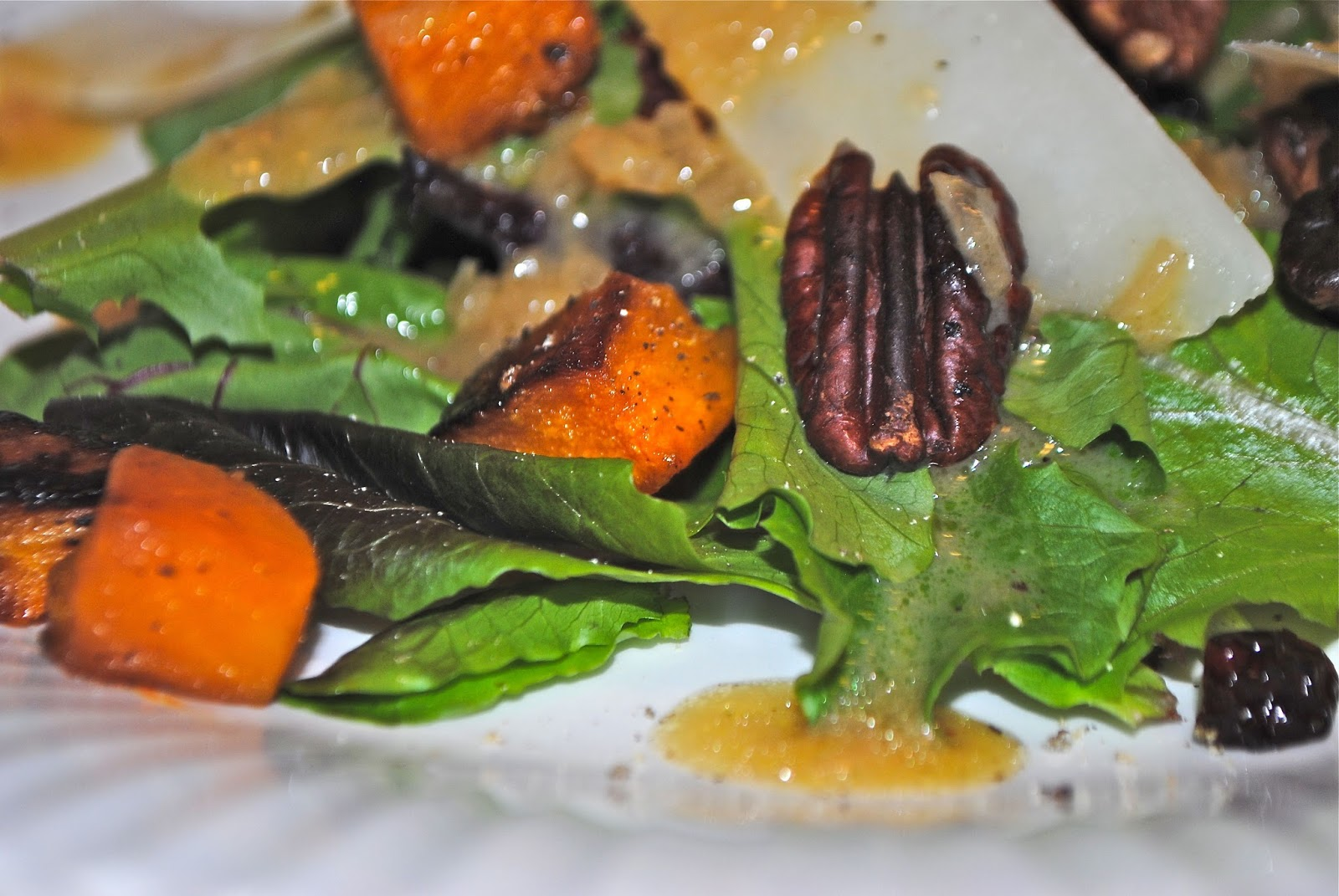 CHIVE VINAIGRETTE and ROASTED BUTTERNUT SQUASH SALAD WITH WARM CIDER ...