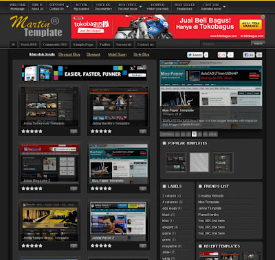 Martin Blogger Template 2013 - Free Web Templates