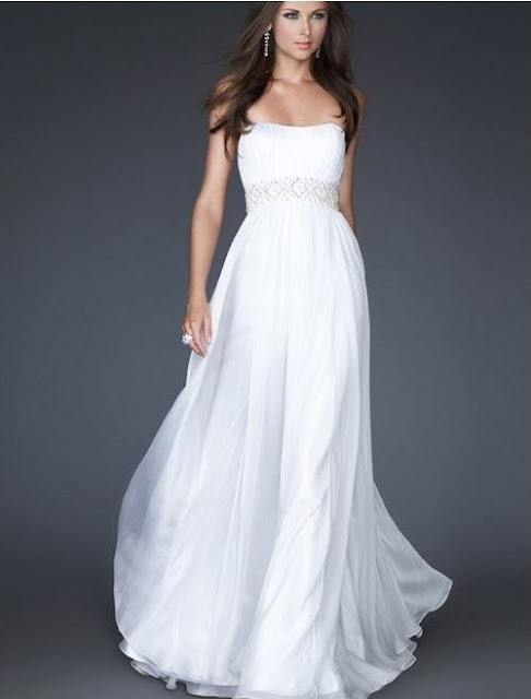white evening dress