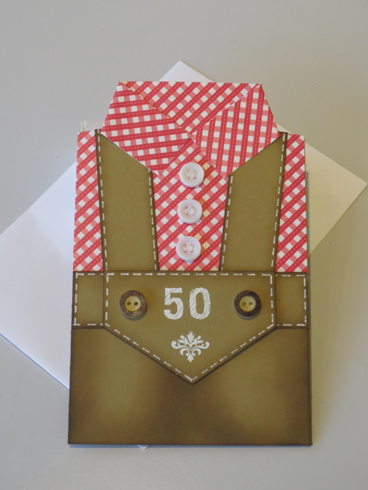Stempelpf tchen lederhosen karte zum 50 igsten und die angebote der woche - Geburtstagskarte basteln mann ...