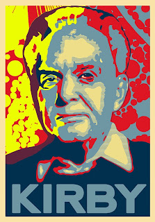 Jack Kirby Gold Portrait - by Russell Payne
