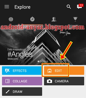 edit foto filter bendera indonesia dengan picsart android