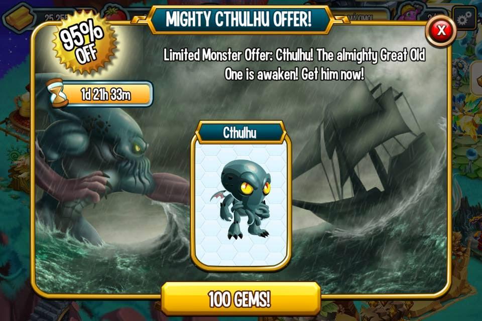 imagen de la oferta especial del monstruo cthulhu