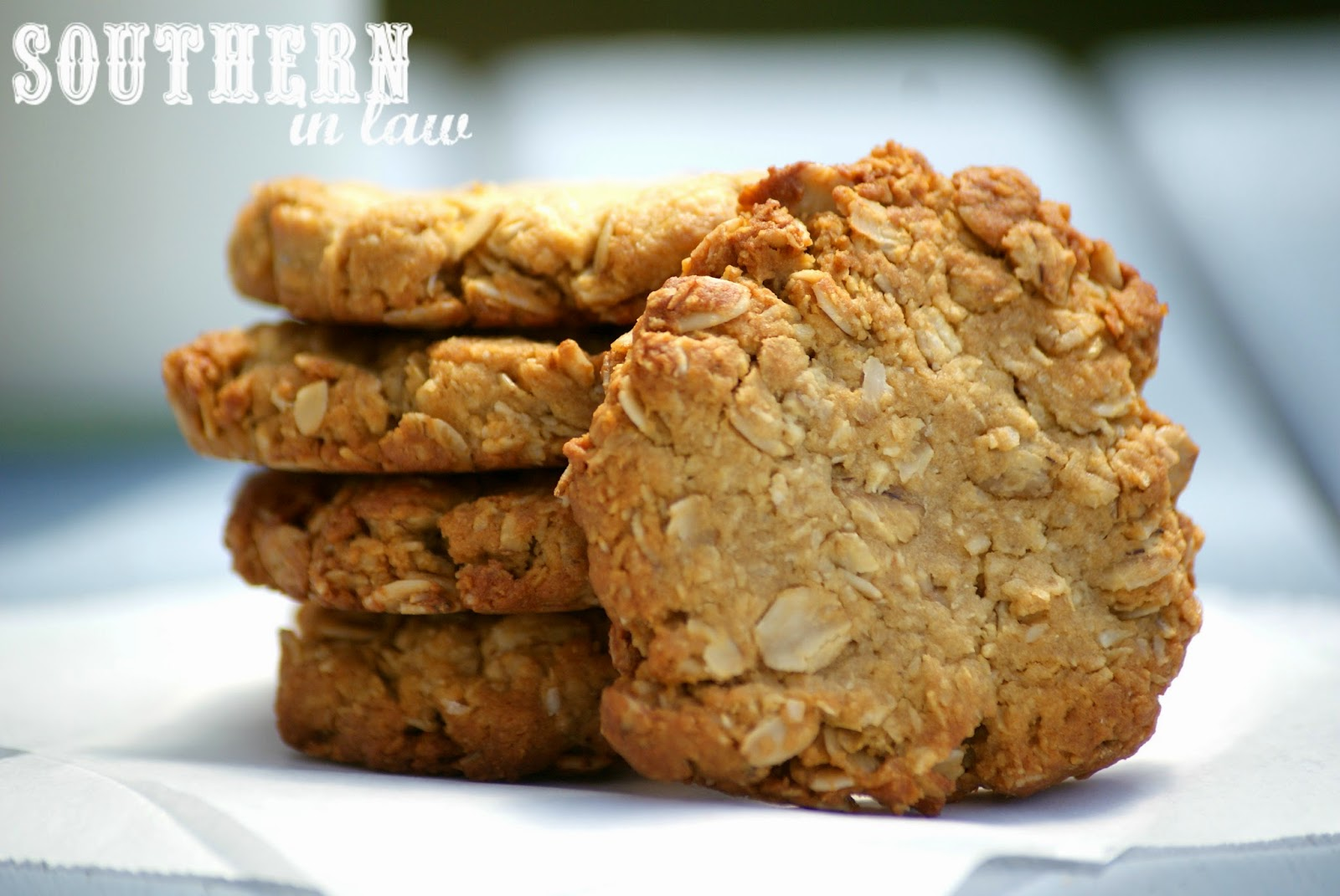 Soft and Chewy ANZAC Biscuit Recipe - gluten free, low fat, healthy, low sugar, eggless, egg free