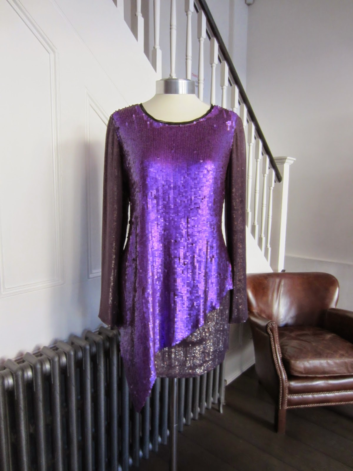 3.1 Phillip Lim Purple Sequin Tunic