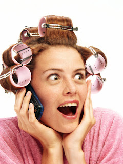 Women with rollers picture