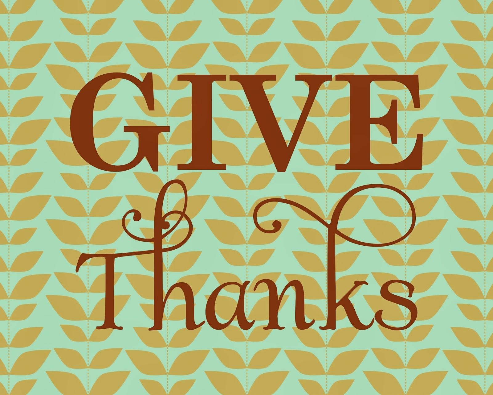 Pamela Renee Designs: FREE Printable: 8x10 Give Thanks Wall Art