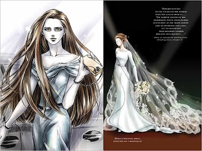 guide officiel de la saga Twilight - robe de mariée de Bella