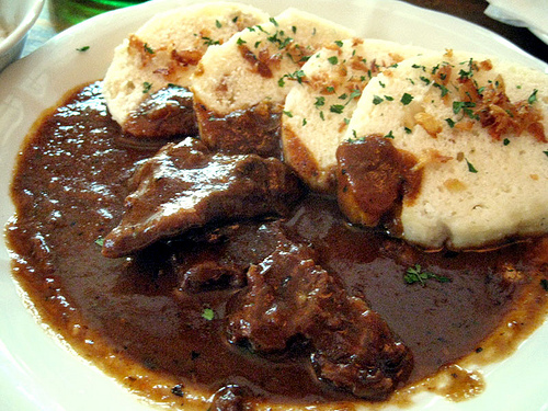dumplings beef goulash with chive beef goulash with herb beef goulash ...