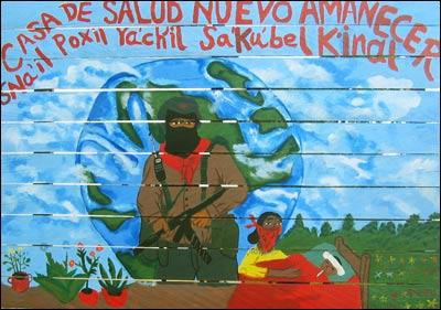 La voz del an huac sexta x la libre chiapas m xico los for Mural zapatista
