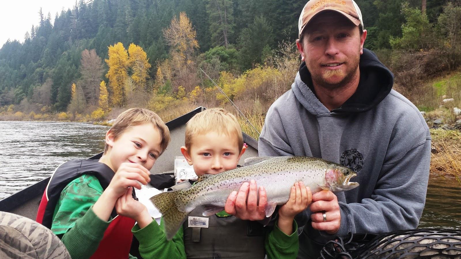 Klamath River Steelhead fishing with Ironhead Guide Service.