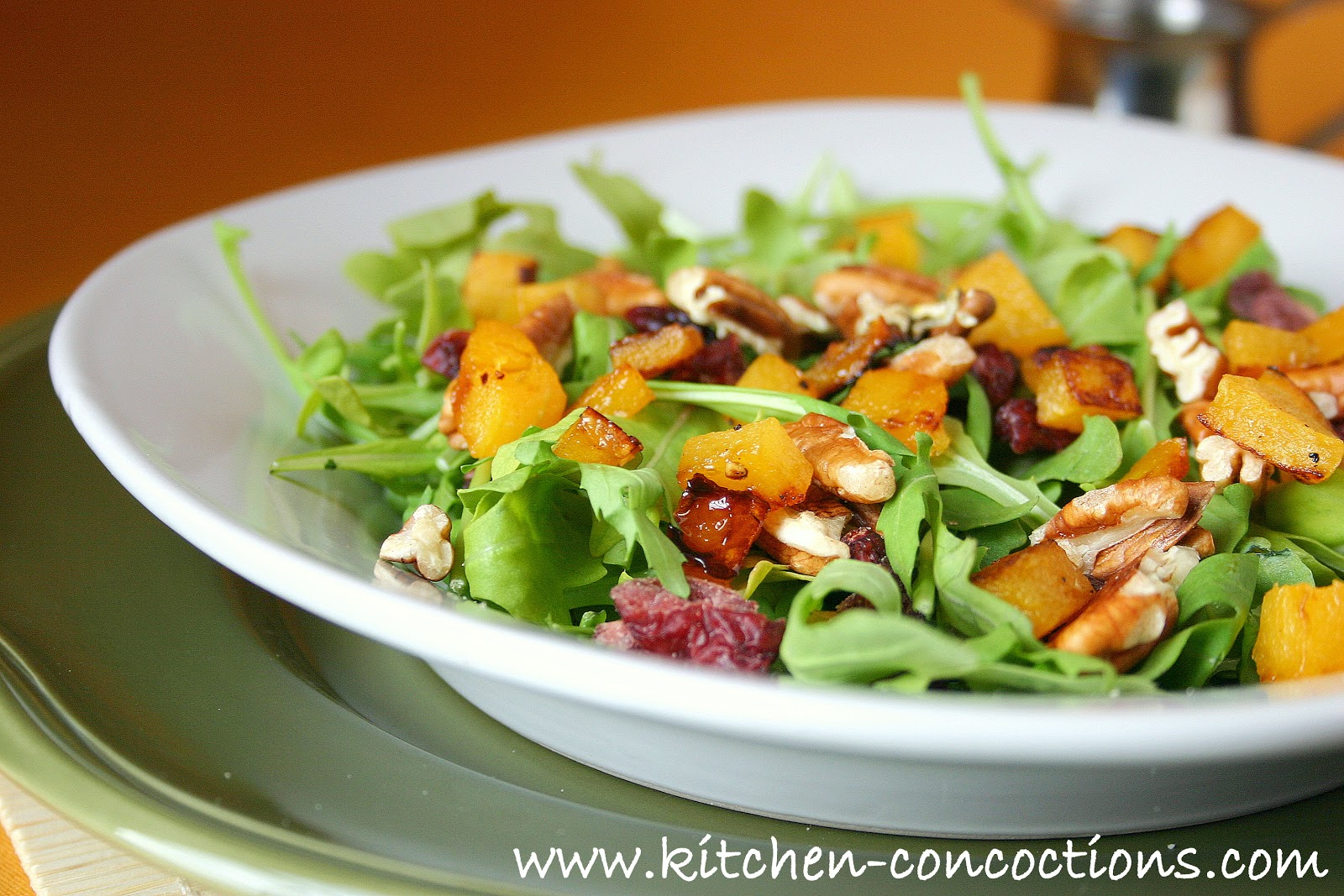 Roasted Butternut Squash Salad with Warm Cider Vinaigrette (Kitchen ...